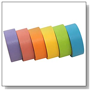 Polaroid Colorful Washi Tape Set with Full Rainbow Of Pastel Colors ? 6 Rolls Of Crafting Tape For Zink 2x3 Photo Paper Projects (Snap, Pop, Zip, Z2300)