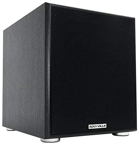"Rockville Rock Shaker 10"""" Inch Black 600w Powered Home Theater Subwoofer Sub, Rock Shaker 10 Black"
