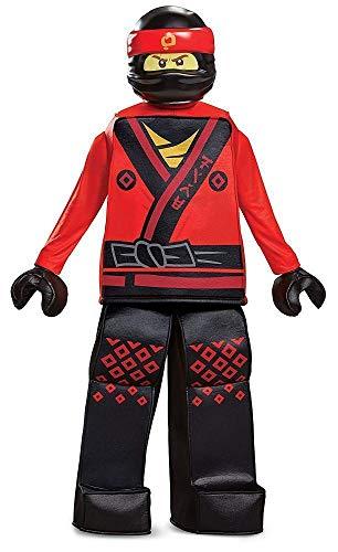 Disguise Kai Lego Ninjago Movie Prestige Costume, Red, Medium (7-8) ()