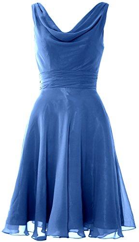 Bridesmaid Horizon Dress Neck Cocktail Short Cowl Party Gown Wedding Elegant MACloth xHFqpw8q