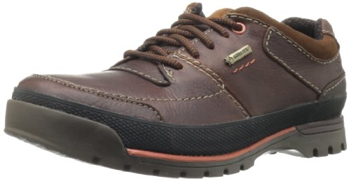 Clarks Men's Narly Path GTX Oxford,Mahogany Leather,10 W US ()