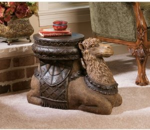 16'' Persian Sultan Camel Animal Sculptural Side Table Accent by XoticBrands (Image #1)
