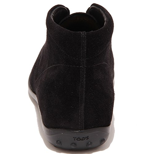 TOD'S Nero donna NICOL 3246P POLACCO polacchino nero boot woman fc5pvqWp