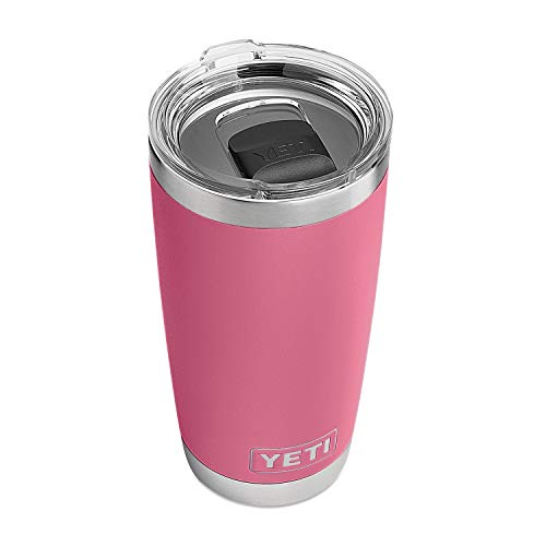 YETI Rambler 20 oz Stainless Steel Vacuum Insulated Tumbler w/MagSlider Lid, Harbor Pink by YETI