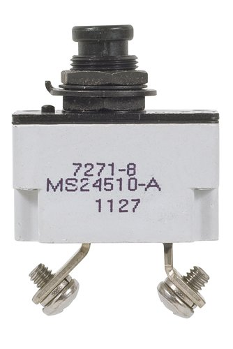 Electrical & Test Equipment-7.5 Amp Klixon Circuit Breaker 7271-8-7.5