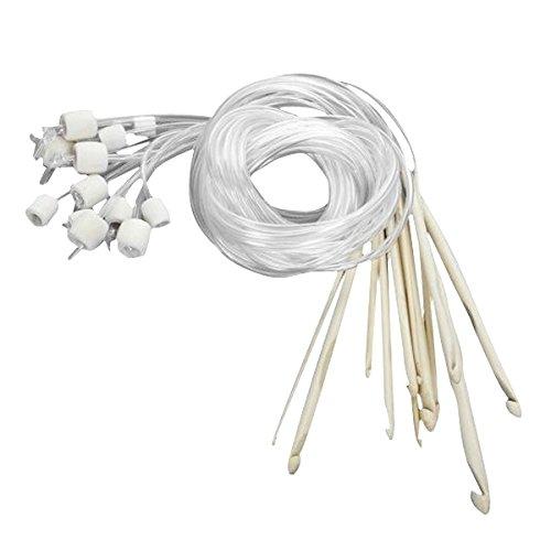 Tinksky Tunisian Bleached Crochet Needles
