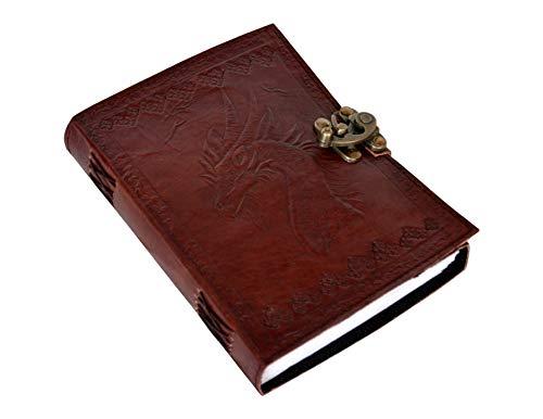 Juego de Tronos Dragón en relieve antiguo escritura manual hecho a mano diario de oficina diario lectura y escritura...