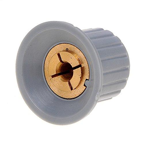 Kmise Z2809H3 3 Piece Plastic Grey Top Screw Tighten Control Knob 16mm x 16mm for 4mm - Tighten Screw The