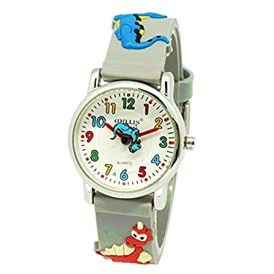 Children Kids Watches 3D Cute Cartoon Digital Silicone Toddler Watch Little Boys Girls Child Time Teacher Waterproof Wrist Watch Gifts by RUIWATCHWORLD