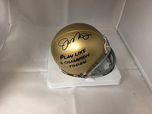 Joe Montana Autographed Signed Notre Dame Mini Helmet Limited Edition Play Like A Champion GTSM Joe Montana Personal Player Hologram & COA