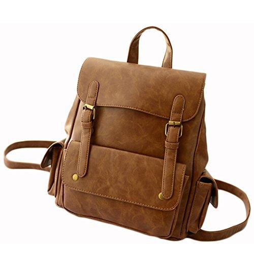 BEIER® Retro 2015 New Men and women Backpack Outdoor Travel Bags Middle School School bag 2015-SPRING41 (brown)