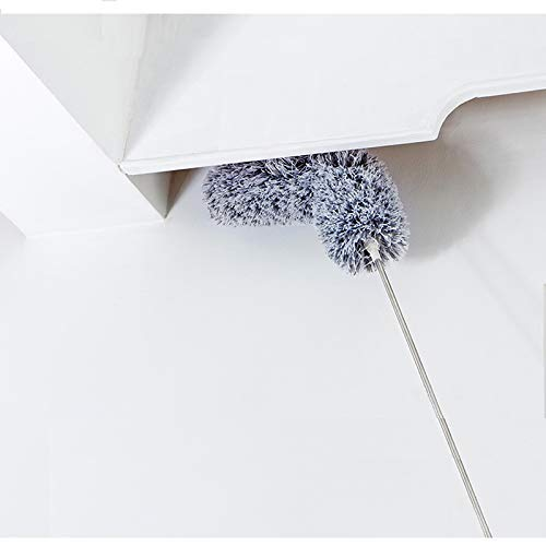 Bendable Washable Duster Cleaning Kit for Roof Ceiling Fan Baseboards Extendable Feather Duster with Telescopic Pole Microfiber Duster High Reach Dusting Kit 95 inches Cobwebs Blinds