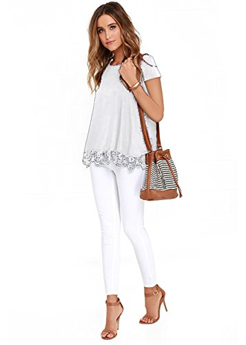 FISOUL-Womens-Tops-Long-Sleeve-Lace-Trim-O-Neck-A-Line-Tunic-Tops