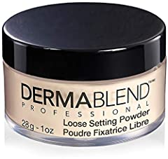 Dermablend Professional's loose powder makeup is a weightless, translucent powder makeup that sets foundation and concealer for up to 16 hour wear. This makeup setting powder locks in makeup to be smudge- and transfer- resistant, making it an...