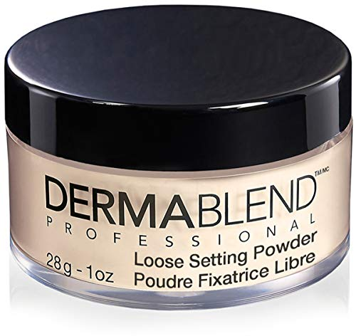 Dermablend Setting Powder, Loose Translucent Powder for Finishing and Setting Makeup, up to 16 Hour Wear, 1.0 Oz. (Best Makeup Setting Powder For Combination Skin)