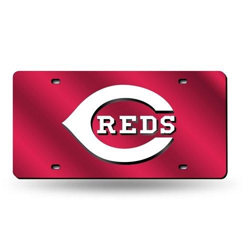 (MLB Cincinnati Reds Laser Cut License Plate,)