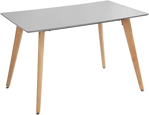 Fanilife - Mesa de Comedor Rectangular de 110 cm, diseño Moderno ...