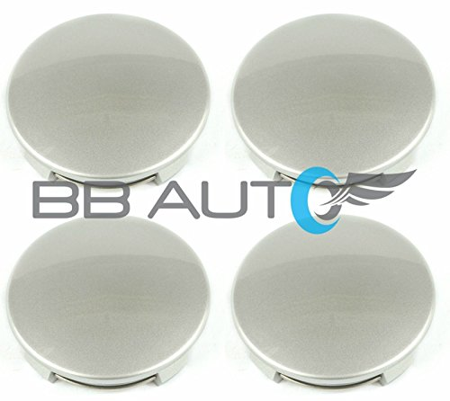 BB Auto Set of 4 New Silver Wheel Hub Center Caps 3.25 inch Replacement for Toyota Tundra Tacoma Sequoia