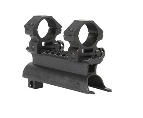 """Review AR-GEAR OEM Black Steel SKS Rifle See Through Receiver Cover Replacement High Profile Tactical Scope Weaver Picatinny Rail Mount Complete With 1"""" Rings"""