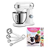 Cuisinart SM-35 Precision Master 3.5 Quart (White) Stand Mixer Includes Cuisinart Measuring Spoons and Cookbook