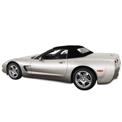 Chevrolet Corvette C5 Convertible Top for 98-04 Models in Stayfast Cloth with Glass Window, - Body Complete Kit C5