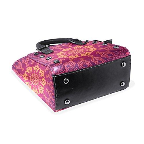 Asa Hombro Púrpura Bolsos La Las Mujeres De De Florales Tizorax Pu Abstracta Cuero De De De Color Superior Encaje Bolsos De 5B0vq1Av