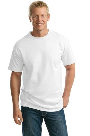 Port & Company Men's Big and Tall 100% Cotton Essential T-Shirt - White - Large (School Essential T-shirt)