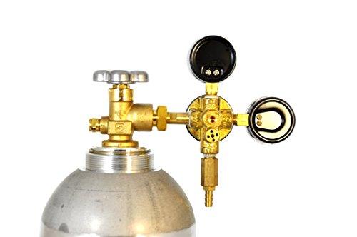 Taprite Primary Keg Brass Beer Regulator With Commercial Pressure Gauge (Dual Gauge 742HPN)