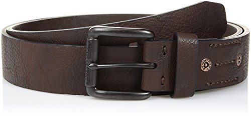 - Levi's Men's 1.5 in. Leather Roller Buckle Belt With Rivets, brown, Medium