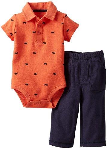 Carters del bebé de Ballenas Imprimir Polo Body Set naranja / azul ...