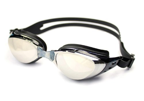 Ispeed Mirror Pro Optical Swim Goggle (Black, -8)