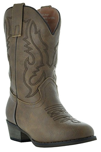 Country Love Little Rancher Kids Cowboy Boots K101-1001 (10, Brown) by Country Love Boots