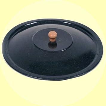 Ungarischer Deckel f/ür Gulaschkessel Emaille Topfdeckel Emailledeckel 22 Liter 43,5cm