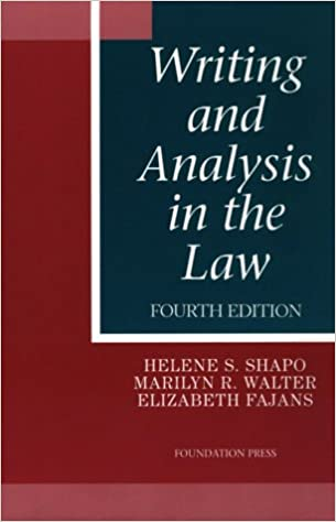 writing and analysis in the law coursebook 7th edition