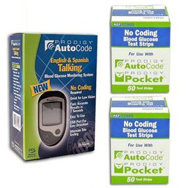 Prodigy Autocode Glucose Meter Kit Combo