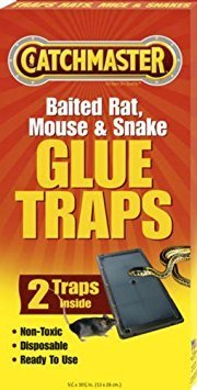 Catchmaster 402 Baited Rat, Mouse and Snake Glue Traps Professional Strength (3 Pack)