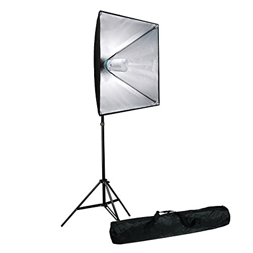 LimoStudio 700W Photo Video Studio Soft Box Lighting Kit, 24 x 24 Inch Dimension Softbox Light Reflector with Photo Bulb, Photography Studio, AGG2767 by LimoStudio