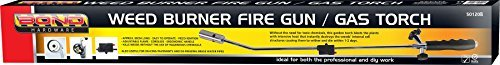 Butane Gas Weed Wand Blowtorch Garden Torch Weeds Killer Burner + 4 Gas Refills Bond Hardware