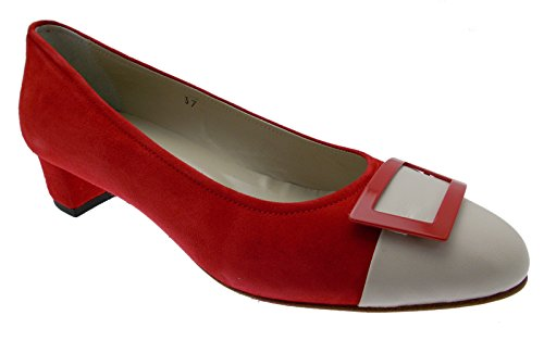 Italy decolt Paperina rojo ante bailarines beige in made BwTwYH