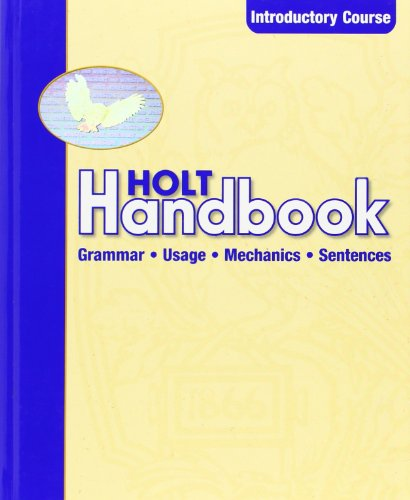 Holt Handbook: Student Edition Introductory Course 2003