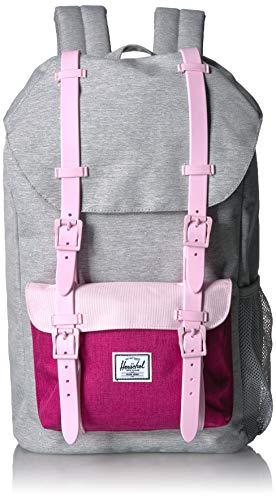 Herschel Kids' Little America Youth Children's Backpack, Light Grey Berry Pink Lady Crosshatch, One Size