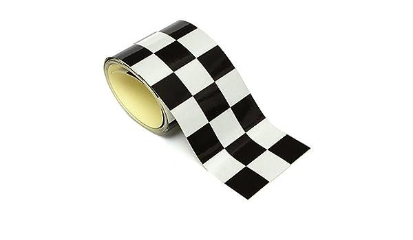 C-FUNN 3 Pulgadas Negro Blanco Checkered Bandera Vinilo Calcomanía Cinta Coche Moto Moto Tanque Pegatina: Amazon.es: Coche y moto