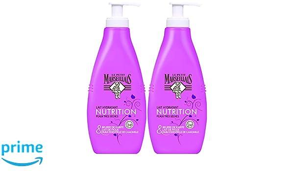 Le Petit Marseillais - el cuidado del cuerpo leche hidratante - pieles muy secas - Karite, aceite esencial de manzanilla y de leche de higos - Bomba 250 ml ...