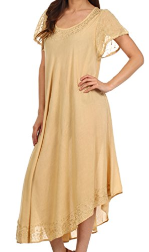 essenziali di i caftano o manica Sakkas giorni donna up Sabbia tutti cap per vestito le cover Elementi UXFEwdqwx
