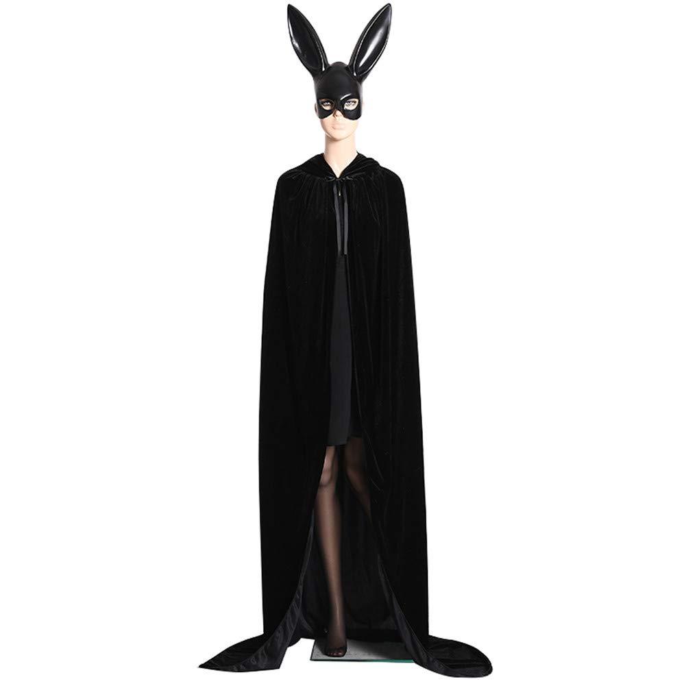SDGDFXCHN Halloween Unisex Lange SAMT Mit Kapuze Mantel Cape Deluxe Vampir Kost/üm Hochzeit Hexe