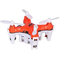 Dwi Dowellin Mini Drone for beginners 2.4G 4CH 6 Axis Gyro RC Quadcopter UFO Drone with 3D Flips Headless Mode CX-Stars Orange
