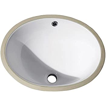 Undermount 18 In Oval Vitreous China Ceramic Sink In