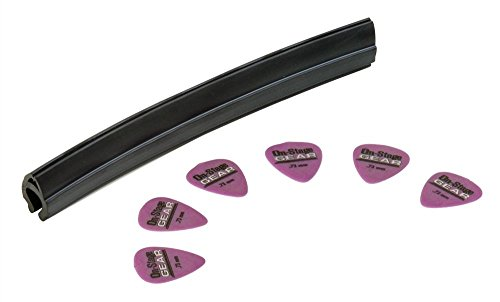 (On Stage Mic Stand Pick Holder with 6 Medium Purple Picks)