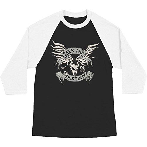 - Metallica Men's Seek & Destroy Baseball Jersey X-Large Black