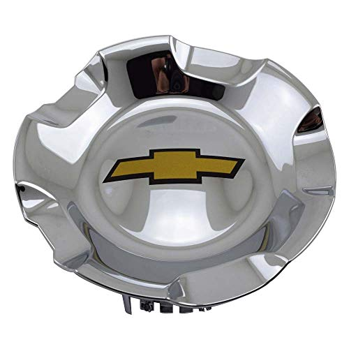 CCBaseball 2007-2013 Chevrolet Silverado Tahoe Avalanche Suburban Wheel Hub Center Caps, 20 Inch 6 Lug Chrome Finish Hubcap Wheel Cover for Chevy 1500 Pickup Truck SUV